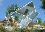 500W solar ridge concentrator system in Spain (courtesy Steve Jasper)